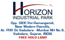 horizon-industrial-park-land-plot-shed-on-rent-lease-vadodara-Opp.-GIDC-Por-Ramangamdi,-Near-Modern-Petrofils,-At-POR-On-Vadodara-Mumbai-NH-No.8,Delhi-Mumbai-Industrial-Corridor-(DMIC),-Gujarat,-INDIA
